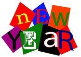 Neujahrs wünsche — Stockfoto