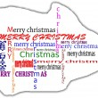 Merry christmas tag cloud — Stock Photo