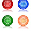 Stock Photo: Colorful globes as buttons