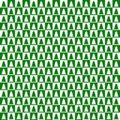 Green and white checkerboard with trees — Stock Photo