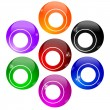 Stock Photo: Colorful billiard balls without numbers