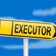Directional board with indicator executor — Stock Photo