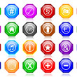 Many different colorful icons as octagons — Stock Photo