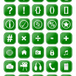 Stock Photo: Many different green icons