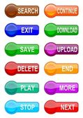 Many different colored buttons — Stock Photo