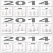 Stock Photo: Bursting monthly calendar for 2014