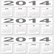 Bursting monthly calendar for 2014 — Stock Photo
