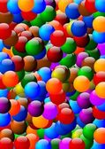Many colorful beads as background — Stock Photo
