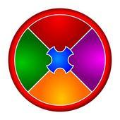 Coloured circular puzzle — Stock Photo