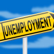 Directional arrow with inscription unemployment — Stock Photo #18667145