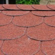 Stock Photo: Red asphalt shingle