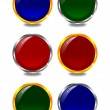 Coloured buttons in colorful frames — Stock Photo