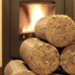 Stock Photo: Wood briquettes
