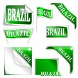 "Set of labels with the word ""Brazil"" — Stock Photo #40629043"