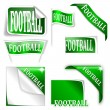 "Set of labels with the word ""football"" — Stock Photo"