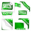 "Set of labels with the word ""soccer"" — Stock Photo #40689277"