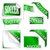 "Set of labels with the word ""soccer"" — Stock Photo"