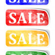 "Stock Photo: Labels with reflections and words ""sale"""