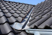 The roof covering with black — Foto de Stock