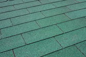 Green asphalt shingle — Stock Photo
