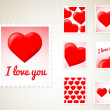 Valentine Stamps — Stockvectorbeeld