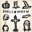 Royalty-Free Stock Vector Image: Hand draw halloween