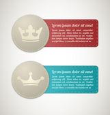 Kral dikişli etiketleri — Stok Vektör