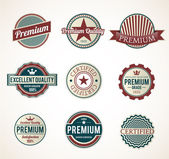 Set of Vintage Premium labels — Stock Vector
