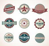 Set of Vintage Premium labels — Stock Vector