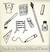 Back to school hand draw — Stock Vector
