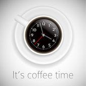 Kompozycja czas kawy — Wektor stockowy