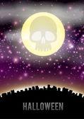 Halloween city theme — Stock Vector