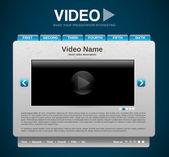 Prezentacja wideo stronie internetowej szablon — Wektor stockowy