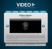 Video presentation website template — Stock Vector