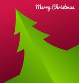 Fold Paper Christmas tree — Stock Vector