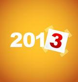 Happy new year 2013 card — Stock Vector