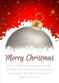Christmas ball poster card — Stock Vector