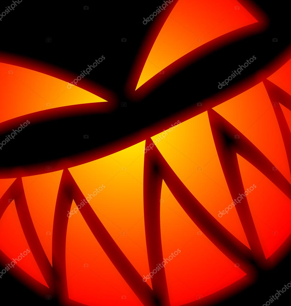 Halloween Scary Face on black — Stock Vector #14835527