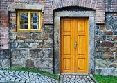 Vintage Wooden Door and Window — Stock Photo