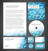 Layout grafico aziendale di cristallo moderno — Vettoriale Stock