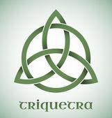 Triquetra symbol with gradients — Stock Vector