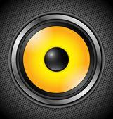 Yellow Modern Speaker — Stock Vector