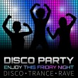 Disco poster with dancers — Stock Vector #23917587