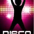Stock Vector: Disco party poster