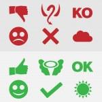 Good and bad symbols — Stock Vector #23917893