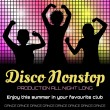 Disco poster with dancers — Stock Vector