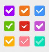 Confermare il set di simboli — Vettoriale Stock
