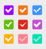 Confirm symbol set — Stock Vector