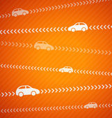 Car abstract background with stripes — Stock Vector