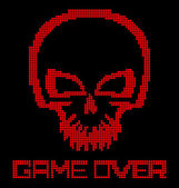 Digital skull virus — Stock Vector